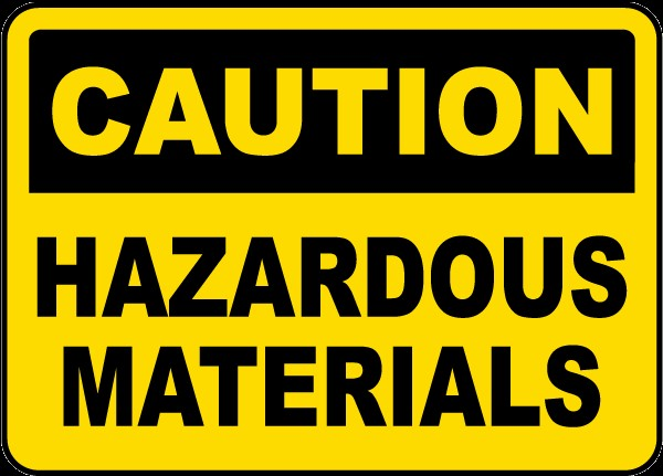 Caution Hazardous Materials Sign G4781 Chemical Hazard Signs By
